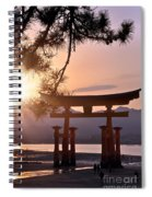 Sunset At Miyajima Spiral Notebook