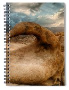 Sunset At Mobius Arch Spiral Notebook