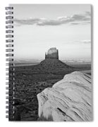 Sunset At Monument Valley, Monument Spiral Notebook