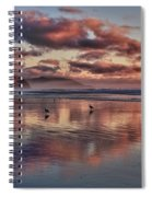 Sunset At Morro Strand Spiral Notebook