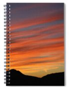 Sunset At Mt. Ord Spiral Notebook