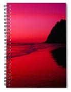 Sunset At Neskowin Beach- Proposal Rock Spiral Notebook