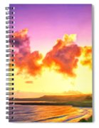 Sunset At Oneloa Beach Maui Spiral Notebook