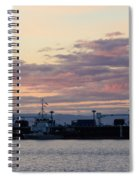 Sunset At Port Angeles Spiral Notebook