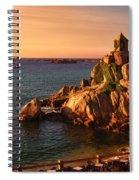 Sunset At Port Blanc - Cote De Granit Rose Spiral Notebook