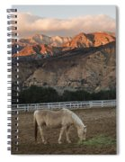 Sunset At Rancho Oso Spiral Notebook
