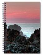 Sunset At Salt Point Spiral Notebook