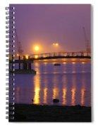 Sunset At Southampton Docks Spiral Notebook