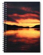 Sunset At Sumdum Spiral Notebook