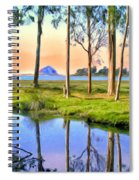 Sunset At Sweet Springs Spiral Notebook