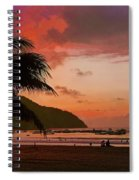 Sunset At The Beach - Puerto Lopez - Ecuador Spiral Notebook