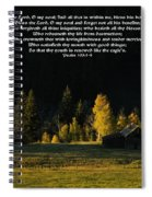 Sunset At The Cabin With Scripture Spiral Notebook