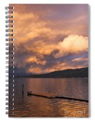 Sunset At The Dock Spiral Notebook