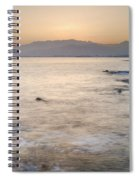 Sunset At The Hot Sea Spiral Notebook