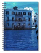 Sunset At The Hotel Canal Grande Venice Italy Near Infrared Blue Spiral Notebook