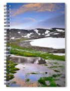 Sunset At The Lake At 3000 M. Hight Spiral Notebook