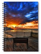 sunset at the port of Tel Aviv Spiral Notebook