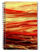 Sunset At The Red River Abstract Spiral Notebook