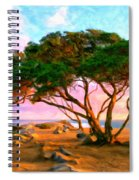 Sunset At The Wedge In Newport Beach Spiral Notebook