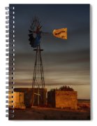 Sunset At The Well Spiral Notebook