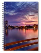 Sunset Balcony Of The West Palm Beach Skyline Spiral Notebook