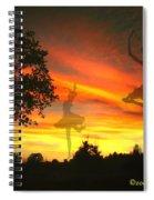 Sunset Ballerina Spiral Notebook