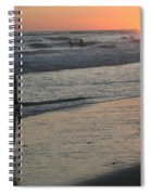 Sunset Beach Silhouette Spiral Notebook