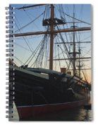 Sunset Behind Hms Warrior Spiral Notebook