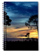 Sunset Behind The Trees Spiral Notebook