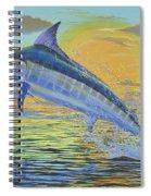 Sunset Blue Off0085 Spiral Notebook
