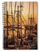 Sunset Boat Masts At Dock Morro Bay Marina Fine Art Photography Print Sale Spiral Notebook
