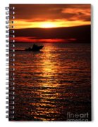Sunset Boaters Spiral Notebook