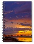 Sunset By Causeway Bridge Spiral Notebook