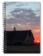 Sunset By The Barn 2 Spiral Notebook