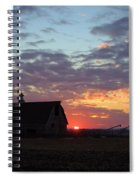 Sunset By The Barn Spiral Notebook