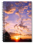 Sunset Clouds Spiral Notebook