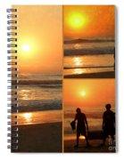 Sunset - Orange Beach Collage Spiral Notebook