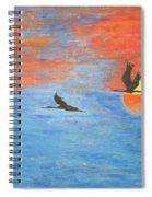 Sunset Cranes Spiral Notebook