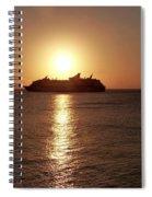 Sunset Cruise Spiral Notebook
