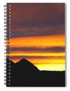 Sunset Death Valley Rectangular Img 0283 Spiral Notebook