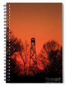 Sunset Fire Tower In Oconee County Spiral Notebook
