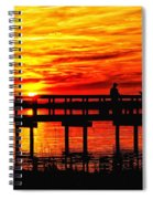 Sunset Fishing At The Pier Spiral Notebook