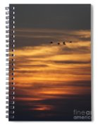 Sunset Flyby Fulton Texas Spiral Notebook