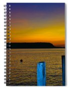 Sunset From Andersons Dock Spiral Notebook