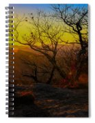 Sunset From Blood Mountain Spiral Notebook