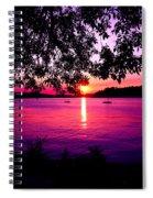 Sunset From Point Fosdick Gig Harbor Washington Spiral Notebook