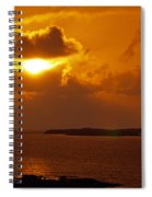 Sunset From The Dolphin Watch Cottage Spiral Notebook