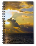 Sunset From The Mumbles Spiral Notebook