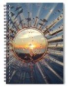 Adelaide Beach Sunset Glass Spiral Notebook