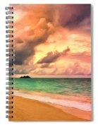 Sunset Glow At Waimanalo Spiral Notebook